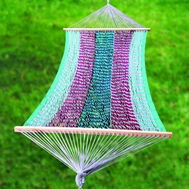 Ocean Striped Mexican Portable Rope Hammock India