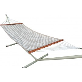 Soft Comb Tan & Flax Hammock with Steel Hammock Stand, Weight capacity of 125 kg, All in one set
