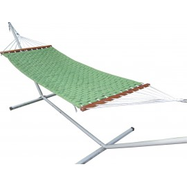 Soft Comb Green Hammock with Steel Hammock Stand, Weight capacity of 125 kg, All in one set