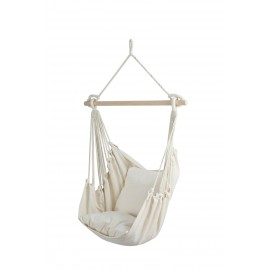 HANGIT Cotton Hanging Swing Chair (Natural, 60 cm)