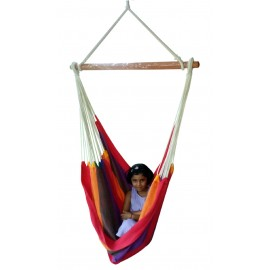 Hangit Cotton Canvas Swing Chair, Multistripe for Single Adult use, 113kg weight capacity,100D X 130H cm