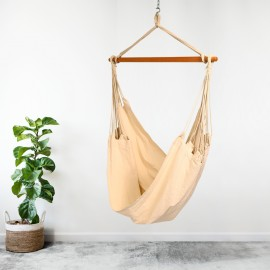 South American XL Canvas Hammock Swing Chair - Natural