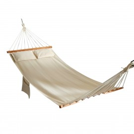Oxford Natural Canvas Hammock with Pillows (Natural Oatmeal)