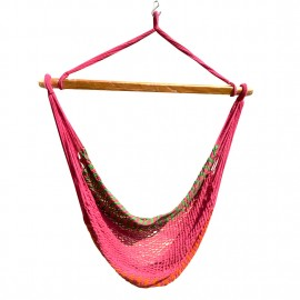 Mayan Multi Color Rope Hammock Swing Chair - Chilli