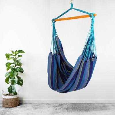 South American XL Hanging Swing Chair - Ocean Blue