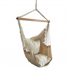 HANG IT Cotton Hanging Swing Chair (Natural, 60 cm)