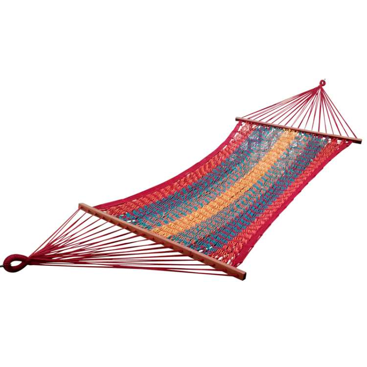 rainbow striped mexican portable rope hammock india     hangit co in   best buy online hammock swing shopping outdoor      rh   hangit co in