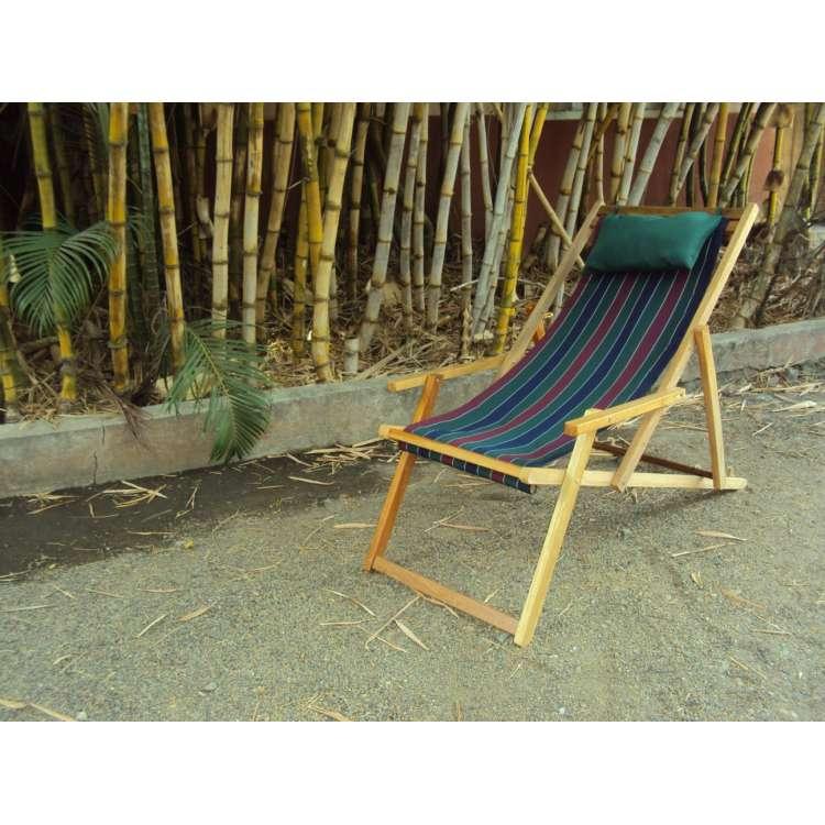 ... Buy Wooden Garden Chair Furniture Online In Delhi With Arm Rest U0026  Pillow   Tricolor Stripe ...