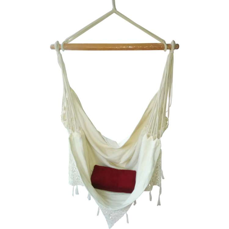 buy fabric garden hammock chair swing with hand made crochet online in india hangit co in   best buy online hammock swing shopping outdoor      rh   hangit co in