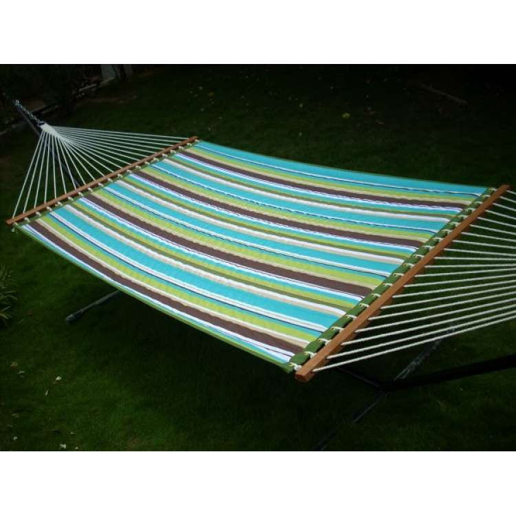 13 u0027ft quilted fabric hammock furniture   aqua stripe hangit co in   best buy online hammock swing shopping outdoor      rh   hangit co in