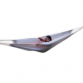 ECO FRIENDLY COTTON CANVAS HAMMOCK - WHITE MULTICOLOR