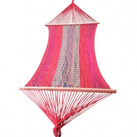Saffron Striped Mexican Portable Rope Hammock India