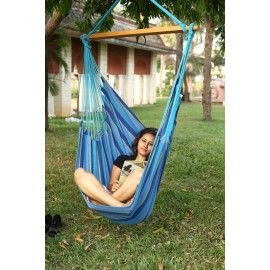 South American XL Hanging Swing Chair - Ocean Blue