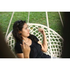 Natural Cotton Macrame Round Swing