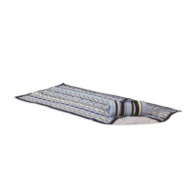 QUILTED BEACH MAT - BLUE STRIPE