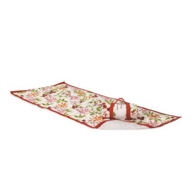 QUILTED BEACH MAT - RED FLORAL