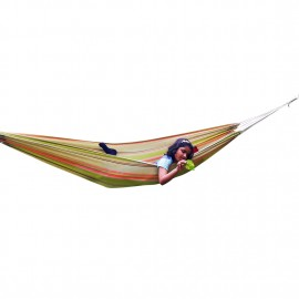 ECO FRIENDLY COTTON CANVAS HAMMOCK - GARDEN STRIPE