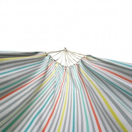 XXL SIZE ECO FRIENDLY COTTON CANVAS HAMMOCK - WHITE MULTICOLOR