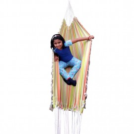 XXL SIZE ECO FRIENDLY COTTON CANVAS HAMMOCK WITH NATURAL FRINGES