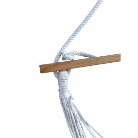 Evanwood Striped Canvas Swing with Wooden Spreader Bar