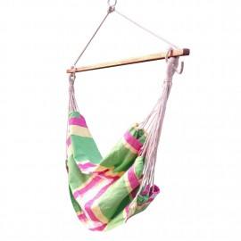Outdoor Canvas Swing Chair with Wooden Spreader Bar