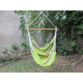 Buy Cotton Fabric Outdoor Indoor Garden Swing Furniture in India - NATURAL