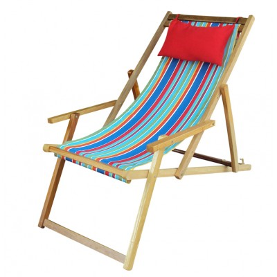 Buy Easy Deck Chairs online India - Multi-Stripe with Arm Rest