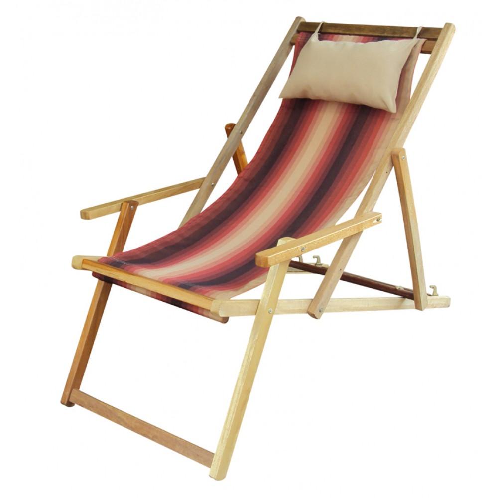Buy Wooden Deck Garden Chair Furniture online in Chennai with Arm