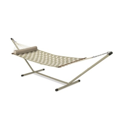 11'FT SOFT COMB QUILTED HAMMOCK - OFF WHITE & FLAX