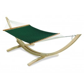 Double Person Soft Comb Hammock on Wooden Stand with Stand and Head pillow