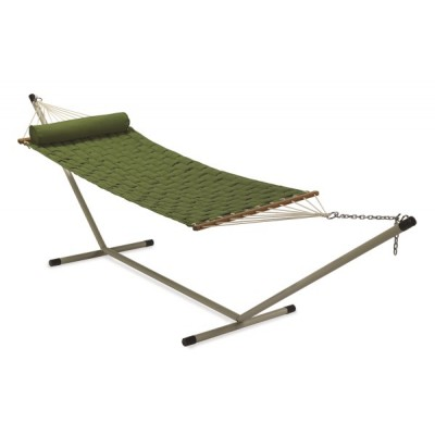 11'FT SOFT COMB QUILTED HAMMOCK - GREEN