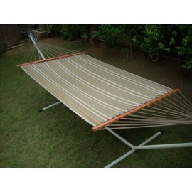 13'FT OLEFIN FABRIC HAMMOCK - BROWN STRIPE