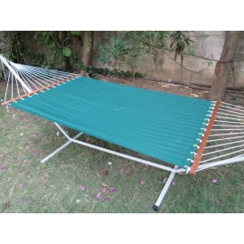 13'FT OLEFIN FABRIC HAMMOCK - GREEN STRIPE