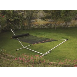 13'FT LARGE POLYESTER BLACK ROPE HAMMOCK - IN INDIVIDUAL BOX