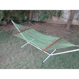48''W POLYESTER GREEN ROPE HAMMOCK -IN INDIVIDUAL BOX