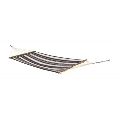 11'FT QUILTED FABRIC HAMMOCK - BLUE STRIPE