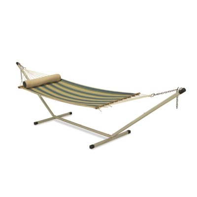 11'FT QUILTED FABRIC HAMMOCK - RAIN FOREST