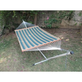 13'FT QUILTED FABRIC HAMMOCK - FOREST STRIPE