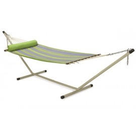 13'FT QUILTED FABRIC HAMMOCK - PARROT STRIPE