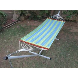 11'FT QUILTED FABRIC HAMMOCK - PARROT STRIPE