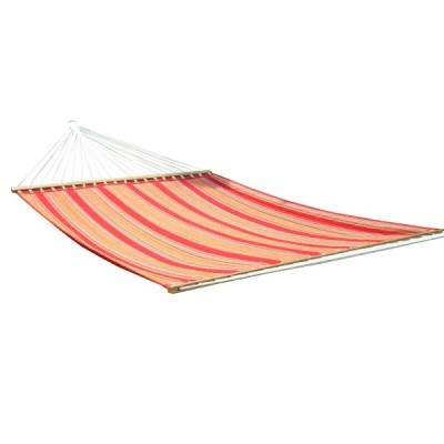 13'FT QUILTED FABRIC HAMMOCK - BRIGHT RED STRIPE