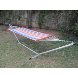 11'FT QUILTED FABRIC HAMMOCK - MULTICOLOR STRIPE