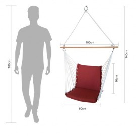 PREMIUM CUSHIONED SWING CHAIR - DARK KNIGHT