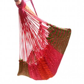 Mayan Multi Color Rope Hammock Swing Chair - Chilli