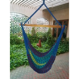 Buy outdoor Multi Color Rope Hammock Swing Chair online in India