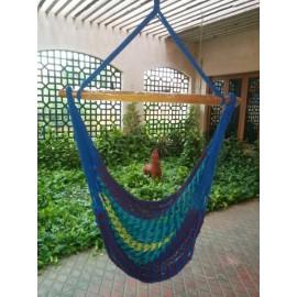 Buy outdoor Multi Color Rope Hammock Swing Chair online in India