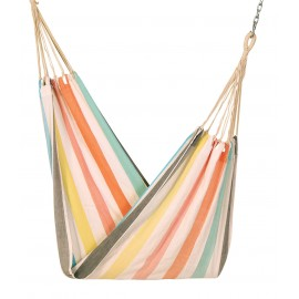 COTTON FABRIC HAMMOCK - MULTI STRIPE