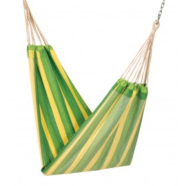 COTTON FABRIC HAMMOCK - GREEN STRIPE