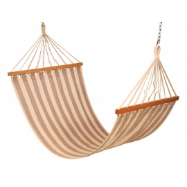 11'FT COTTON FABRIC HAMMOCK - TAN STRIPE