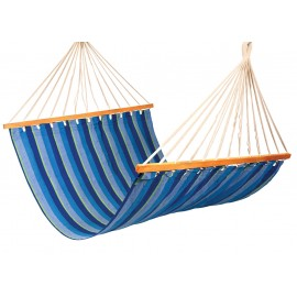 Double Size XL Canvas Hammock - Ocean stripe